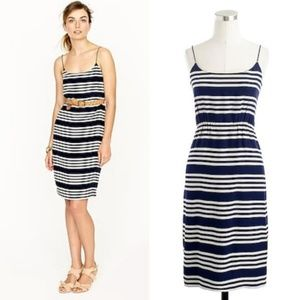 J. Crew Blouso' Silk Striped Strappy Summer Dress